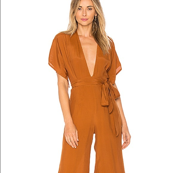 """860185d21a58 Faithfull the Brand Pants - Faithfull the Brand caramel jumpsuit """"Cedric"""""""